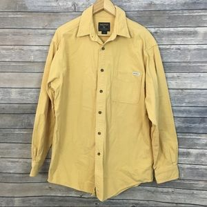 Woolrich Yellow Flannel Button Down Shirt